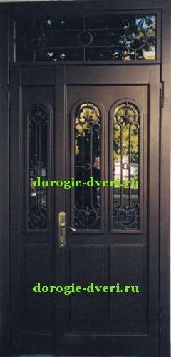 дверь металлическая с бронированным стеклом