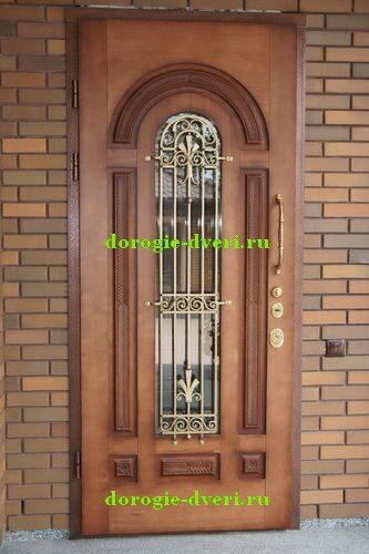 металлические бронированные двери со стеклом