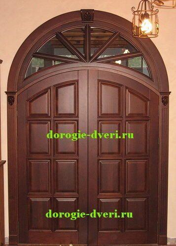 двухстворчатые входные арочные двери