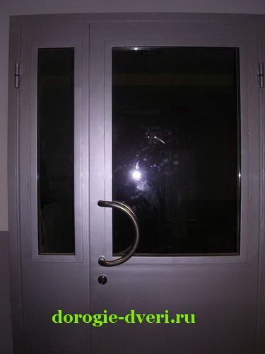 железная дверь с тонированным стеклом