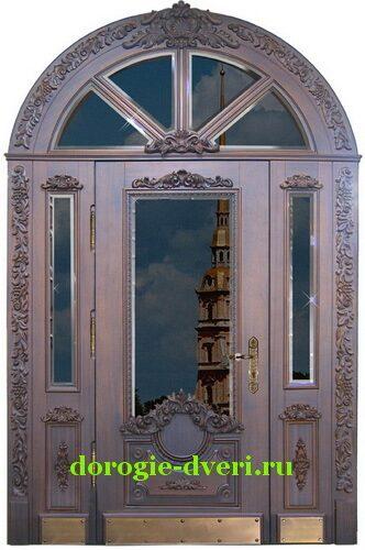 входная металическая дверь со стеклом дорогая
