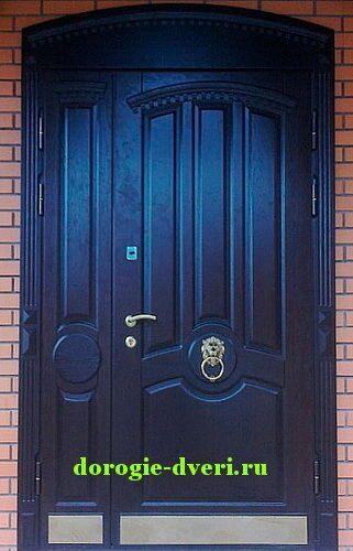 арочные двери входные металлические с массивом дуба цена
