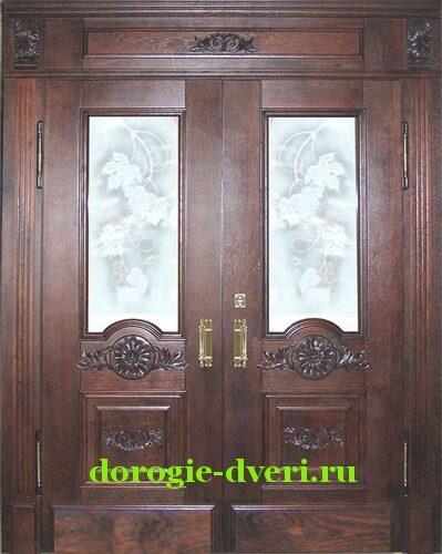 входные парадные двери двустворчатые