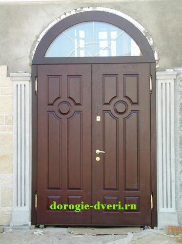 стальные наружные арочные двери