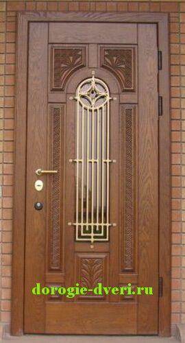 металлические коттеджные двери со стеклопакетом в москве