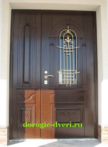 входные сейфовые двустворчатые двери металлические