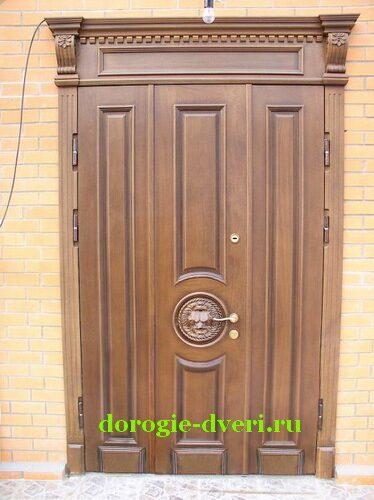 металлические входные двери с отделкой из дуба в раменском
