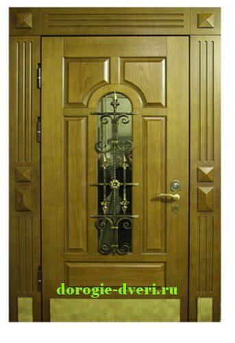 двери парадные металлические светлая состаренная