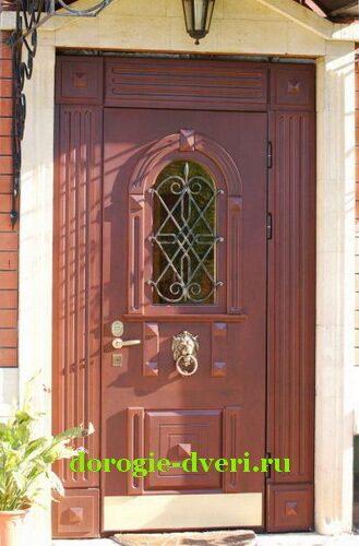 железные двери со стеклопакетом и ковкой в подольске