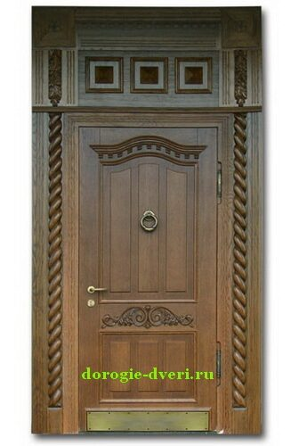 металлические входные двери с массивом дуба